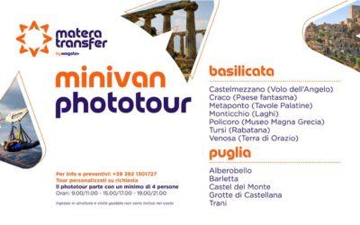 Minivan Phototour con partenza da Matera